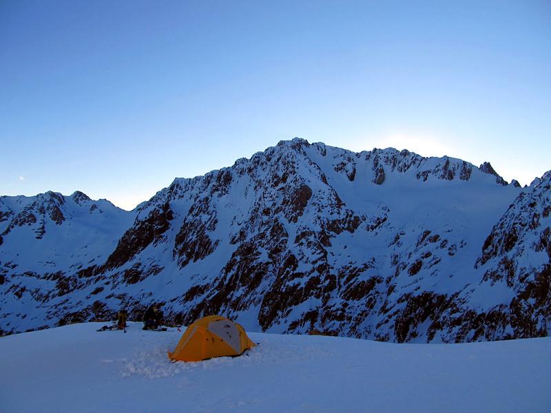 Camp opposite Mt Greenlaw.