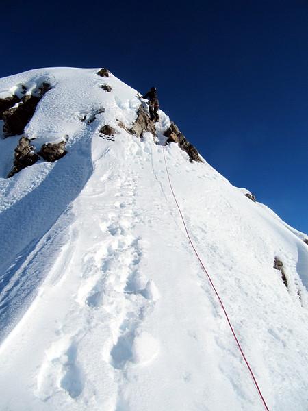 Summit ridge of Mt Greenlaw.