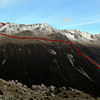 Our route to Mt Barron and over the Barron Range to Otira.