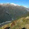 James on his way down the track to Otira.