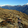 James on the way to the Kelly Range, Taipo below, Tara Tama behind.