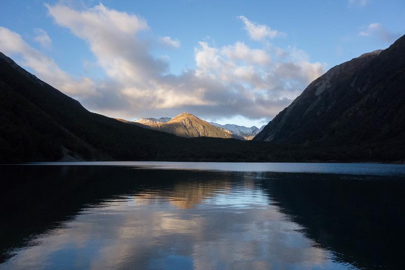 Lake Minchin from its northern shore.
