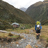 Reaching Goat Pass Hut.