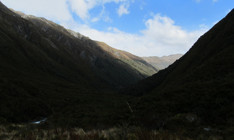 Looking down the Mingha from near Goat Pass.