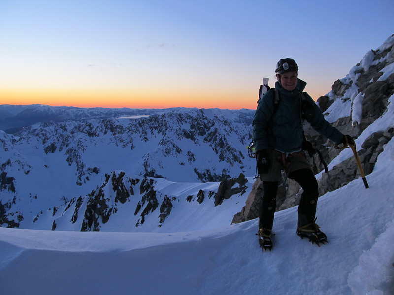 Me at the top of the couloir.