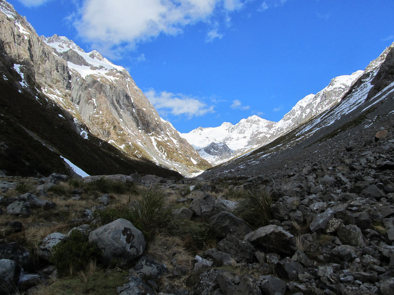 Looking up the White River, Mount Murchison at its head.