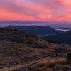 Allan and Rosie heading for Mt Alexander at sunrise.