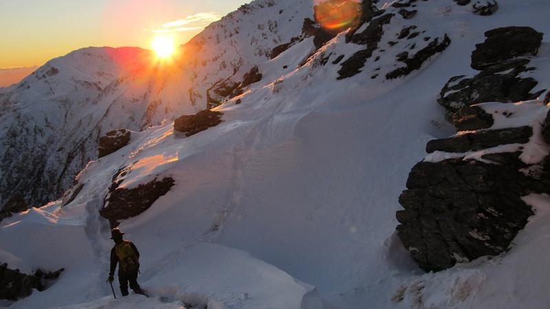 James near Pt 1795m at sunrise.