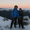 Jeremy and Silvia near Pt  1705m at sunrise.