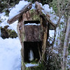 Letter box at Camp Creek Hut.