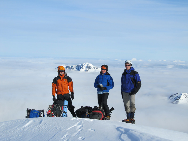 The team on the summit.