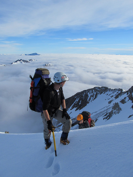 Below the summit of Mt Armstrong.