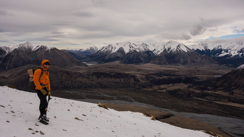 Overlooking the Waimak from the West Ridge of Binser.