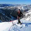 Me on the summit of Greenlaw (photo - James Thornton).