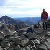 Me on the high peak of Mt Oates.