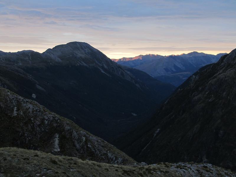 Sunrise above the Mingha.