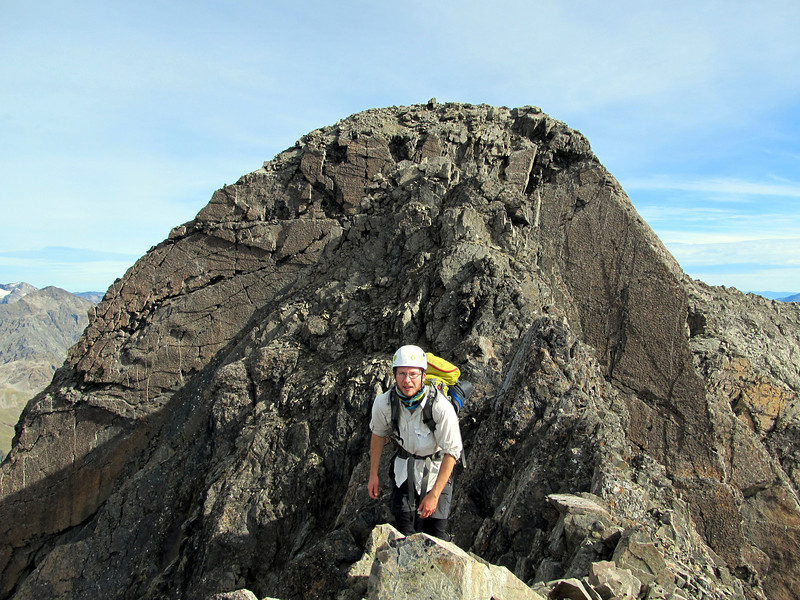 James on the South Ridge of Mt Oates.