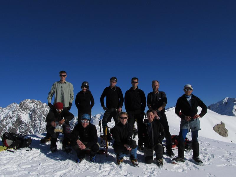 The team: Top left to right: David, Laurayne, Chris, Andrew, John,Tom, bottom left to right: Prajot, Torsten, Marta, Nina.
