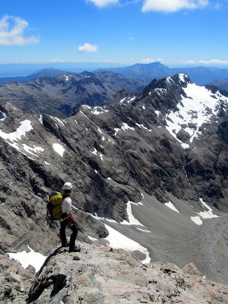 A little break, Mt Alexander on the horizon, Mt Philistine below.