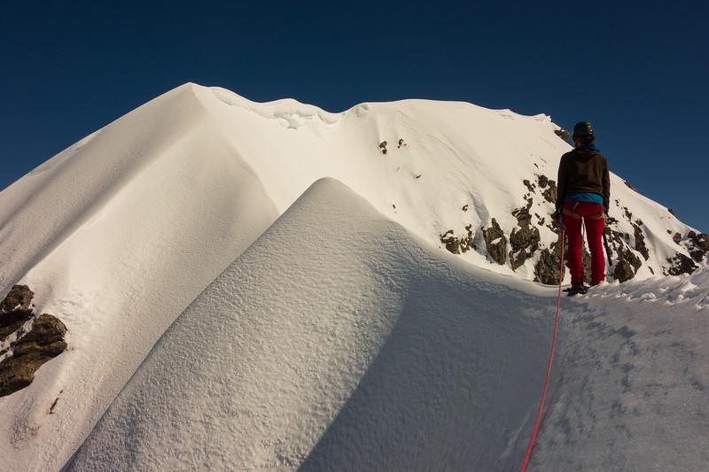 On the SE ridge (photo - James Thornton).