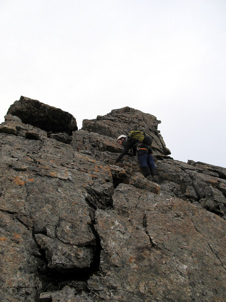 Sections of good rock on the ridge..