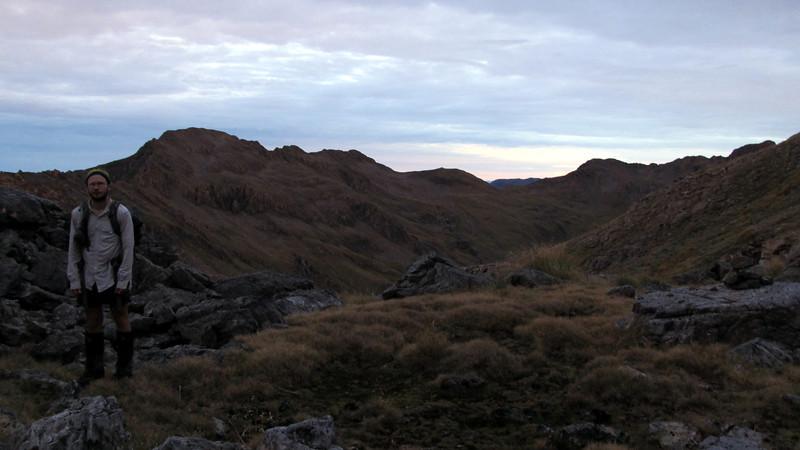 James with Mt Tarapuhi on the left.
