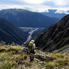 Descending back into the Deception looking towards the Deception-Otira confluence.