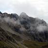 Mist around the summit of Mt Russel.