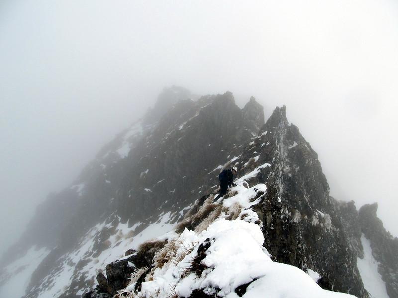 Andrew on the north ridge of Tarapuhi.