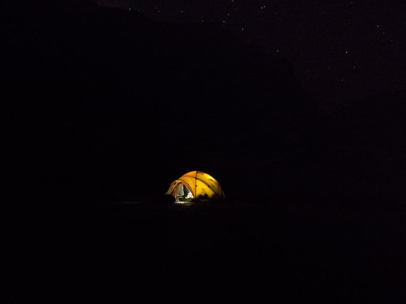 Starry campsite.