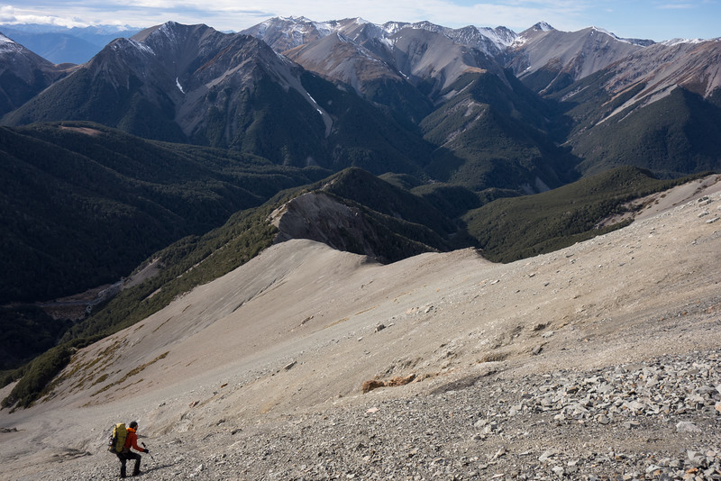 On the ridge between Long Creek (left) and Windy Creek (right).