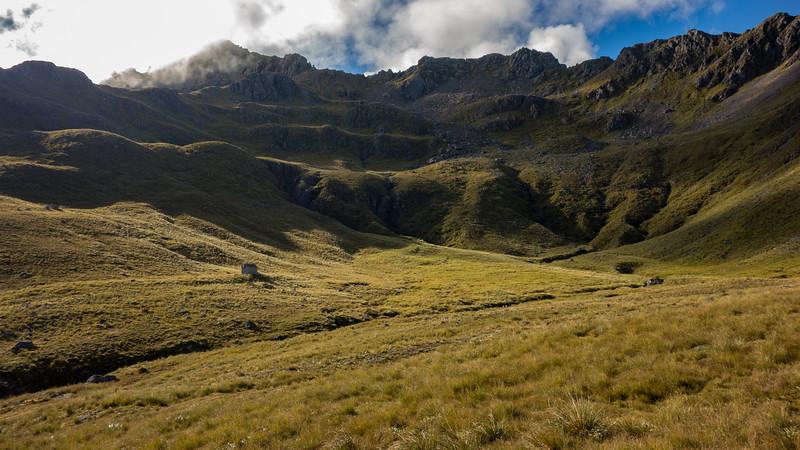 The biv below Mt Pfeifer.