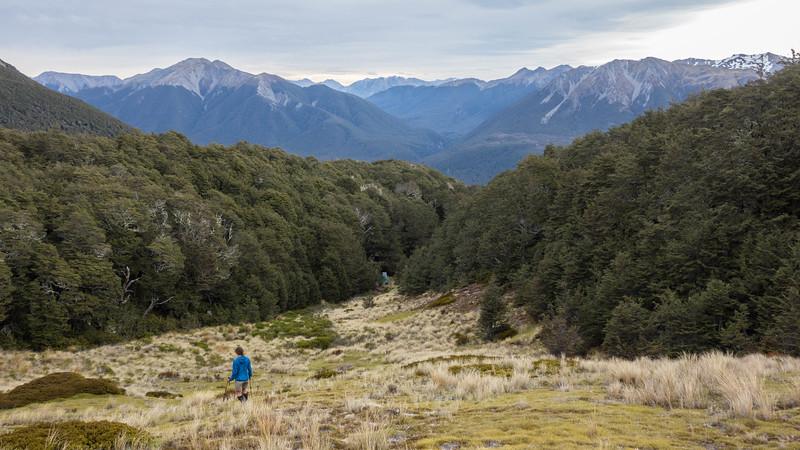 Back at Ranger Biv, Casey Stream in the centre image.