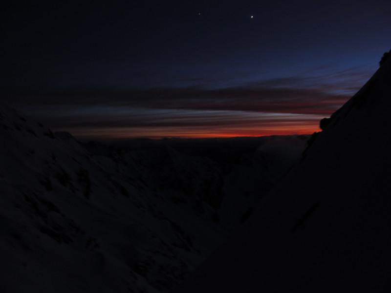 Sunrise at the gap.