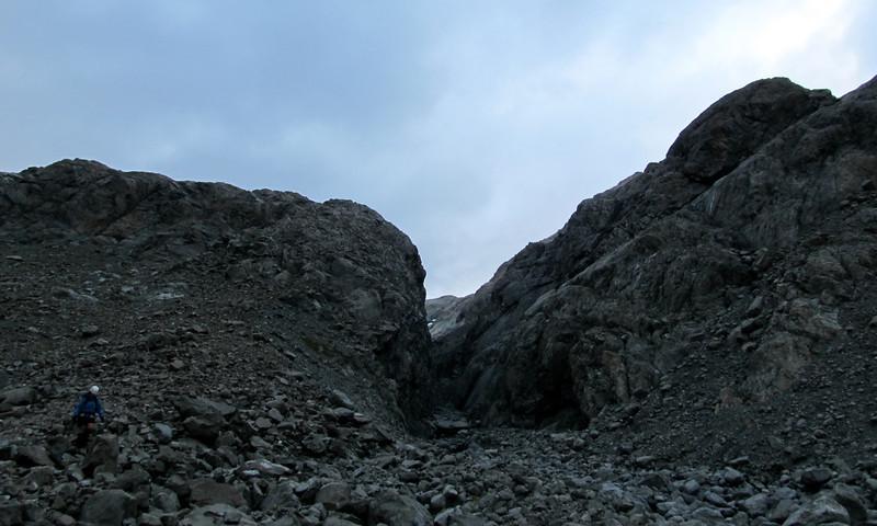 Canyon at the head of the Waimak.