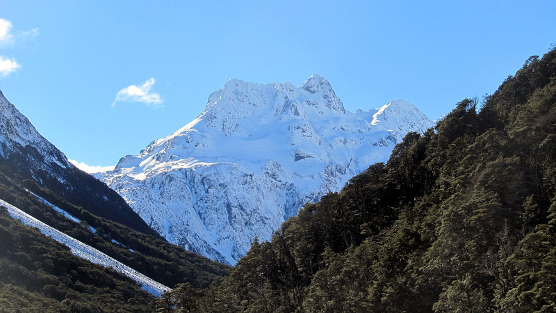 Our first view of the beautiful Carrington Peak.