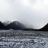 Coming down the Waimak - now blanketed with fresh snow.