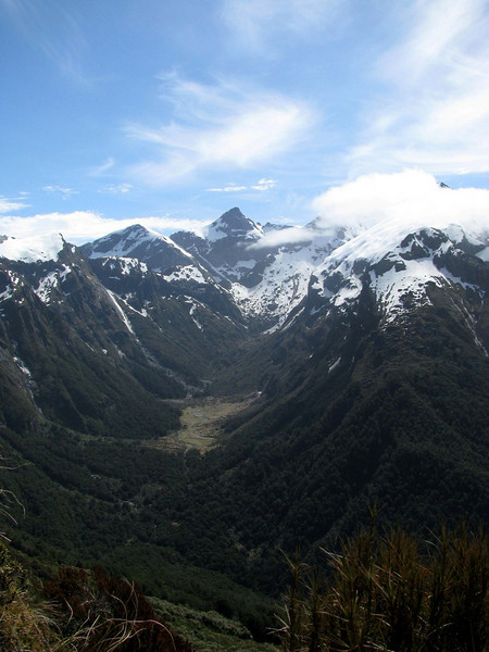 View from Douglas Saddle towards Maori Saddle and Eyetooth