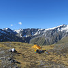 Campsite on Ruth Ridge, Rabbit Pass behind.