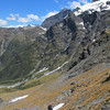 Climbing up to Ruth Ridge.