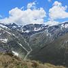 Rabbit Pass from Ruth Ridge, Mt Taurus on the left and Lois Peak on the right.