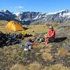 Campsite on Ruth Ridge.