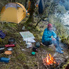 Camp beside a more gentle Drake after a difficult, chest-deep crossing of the Castor-Pollux Creek.
