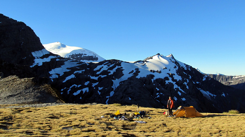 Our camp on Wilmot Saddle.