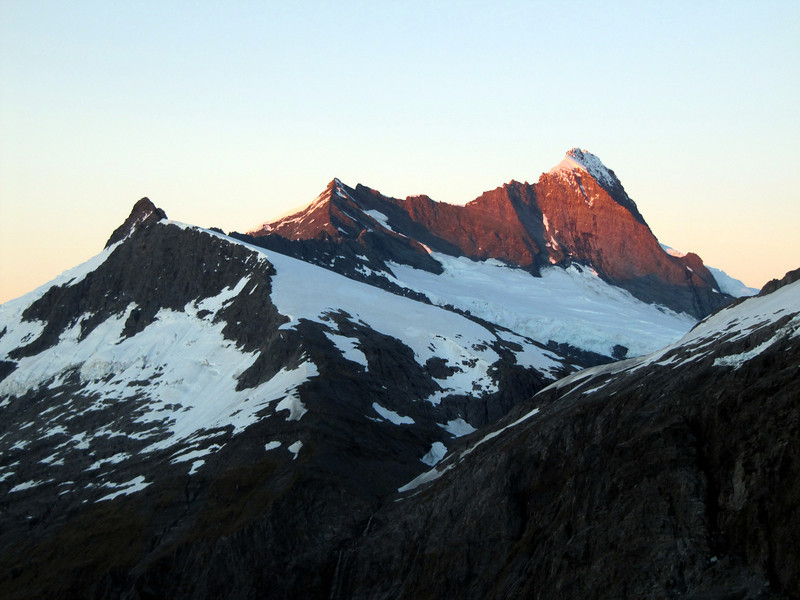Mt Aspiring at sunrise.