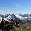 The team on the ridge.