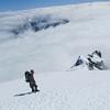 Descending the NW Ridge.