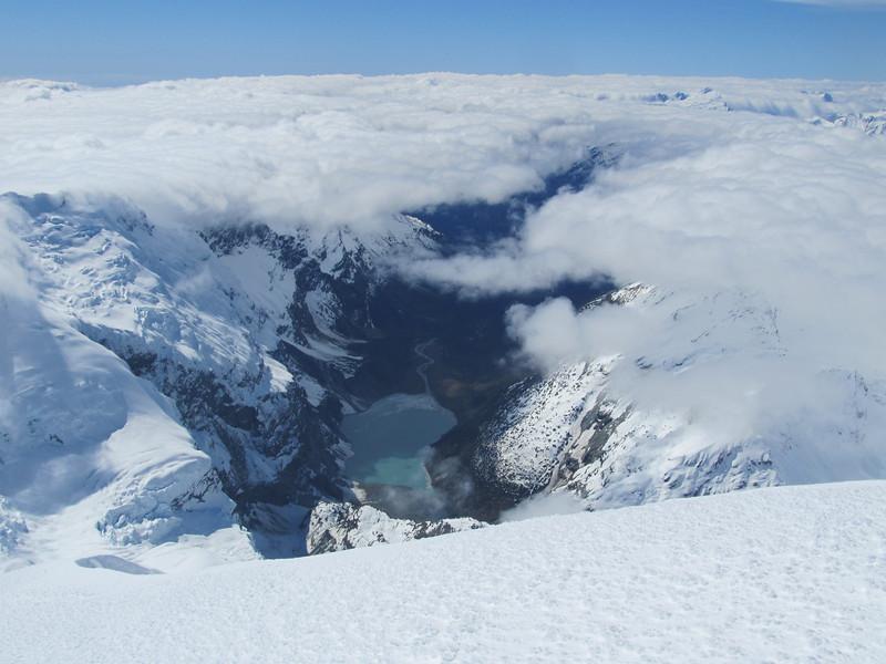 Lake at the head of the Waiototo.