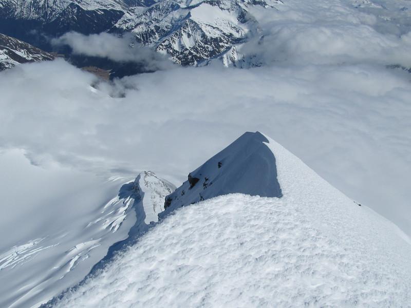Looking down the SW Ridge.