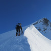 On the SW ridge, approaching the couloir.